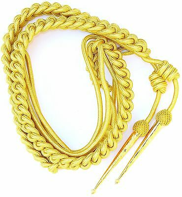 Brand New Army Gold Aiguillette British Officer Free Shipping Usa Lowest Price
