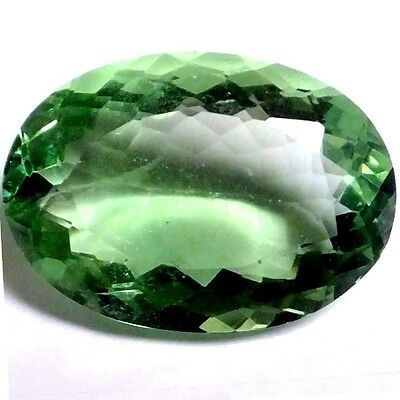 NATURAL TOP GREEN FLUORITE GEMSTONE LOOSE GEMSTONES (22 x 16.3 mm) LARGE OVAL