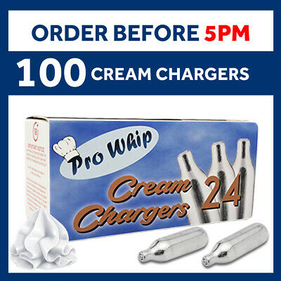 100 MOSA 8g Nitrous Oxide Whipped Cream Chargers NO2 NOS NOZ Cannisters Whipper