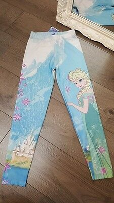 Kids Girls Disney Frozen Princess Elsa Leggings Trousers Pants (K-16)