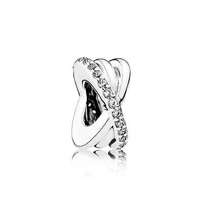 Genuine & Authentic Pandora Sterling Silver Galaxy Spacer Charm. 791994CZ.