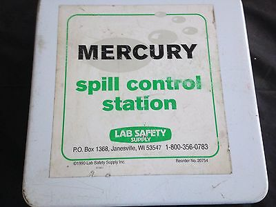LAB SAFETY SUPPLY -  Mercury Spill Kit Control Station - Chemical clean up