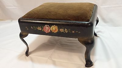 Foot stool antique vintage floral printing year unkown