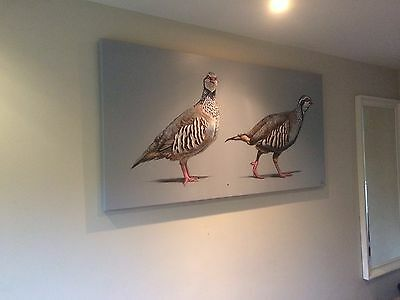 HUGE 6x3FT CANVAS Giclee Print of PARTRIDGE painting by Artist Alice Arnold Art