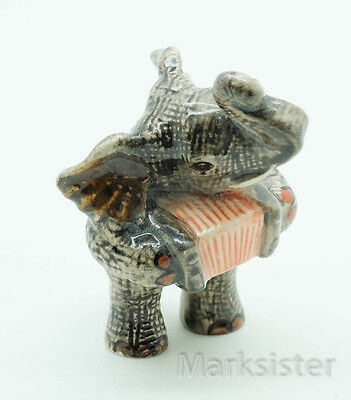 Figurine Animal Ceramic Statue Elephant Playing Accordion Musical -  SMC018-1