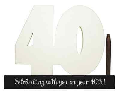 NEW Splosh Wooden Signature Number 40th Birthday Plaque You Sign With Pen SGN40