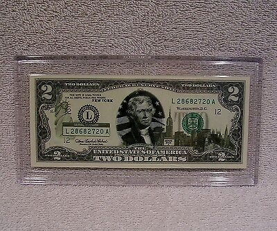 New York  $2 Two Dollar Bill - Colorized State Landmark - Uncirculated Authentic