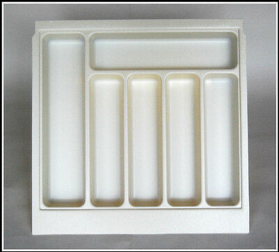 Cutlery Tray For 500mm Drawers,Cream, Size 430mm x 430mm x 50mm, Fits Howdens