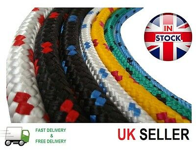 10mm Polypropylene Braided Plaited Poly Rope Cord Yacht Boat Sailing PRICE PER M