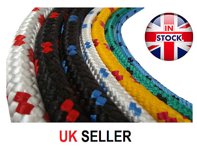 6mm Polypropylene Braided Plaited Poly Rope Cord Yacht Boat Sailing PRICE PER M
