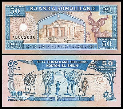 SOMALILAND,  50 Shillings,  P-4b,  1996,  Unc  Banknote  Africa