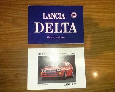 Lancia Delta Integrale Evo Betriebsanleitung  Owner's Manual und Manual for Evo
