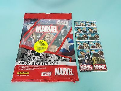 Panini Marvel Heroes 2017 Mega Starterpack + 10 Booster Trading Cards