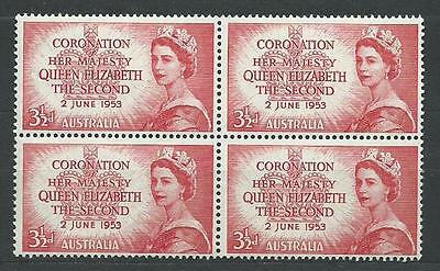 Australia - # 259 MNH Bl. of 4 + 259-261 M.H. & used sets -Coronation Issue 1953