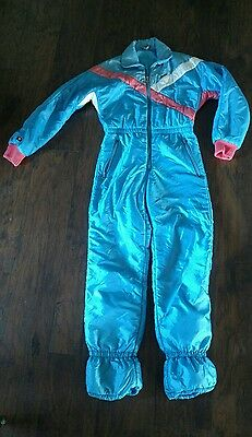 Vintage Ellesse Snow Suit One Piece Made in Italy Sz 42 American Size 8