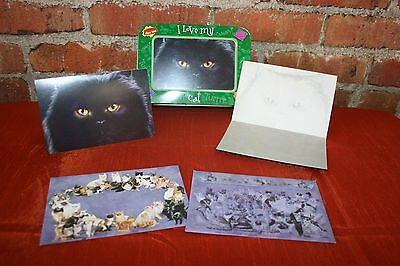 Cat Breed Greeting Cards Black Cat, Collectible Photo Tin 15 Cards,15 Dog Env