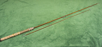 """Three Piece 6' 7"""" Split Bamboo Spinning/Bait Casting Fishing Rod - Ready to Use"""