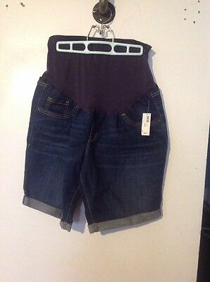 Old Navy Dark Denim Jean MATERNITY Size 16 Regular Shorts NWT Brand New