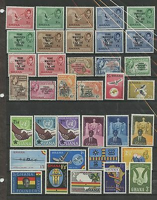 GHANA--Accumulation of 62 stamps