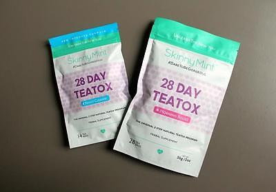 Skinny Mint Teatox 28 Day Natural Weight Loss - Morning Boost and Night Cleans