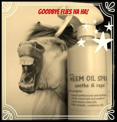 Neem Oil Spray by Horse Leads Natural Fly repellent, mud fever, sweet itch 500ml