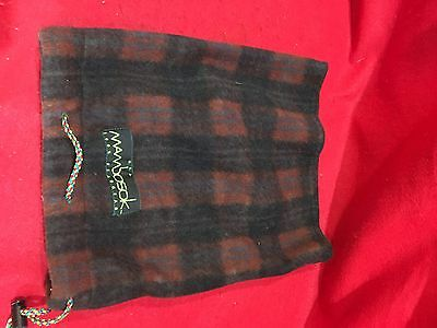 Nos Vintage Mambosok Stovepipe Plaid Fleece Hat Skateboard Sk8 Retro Rare
