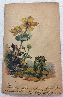 Fantasy Frogs Dancing As Grome Plays Music Flower
