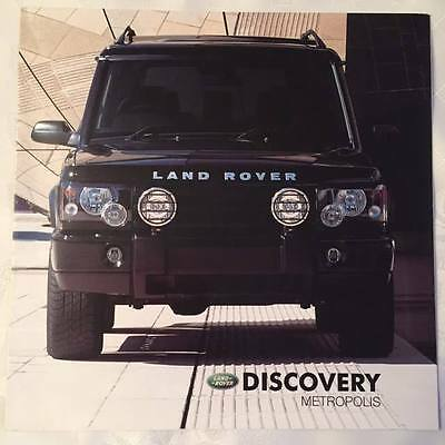 Land Rover DISCOVERY Metropolis 3 fold leaflet
