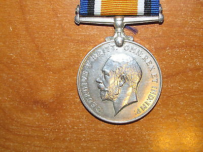 WW1 silver British War Medal named to Etherington