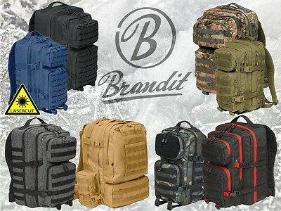 Brandit US Cooper medium/large - LASERCUT/FLANELL/2-COLOR/3-DAY-BACKPACK/PATCH
