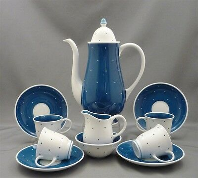 SUSIE COOPER England Bone China Coffee Cup & Saucer Cream Sugar Set For 4