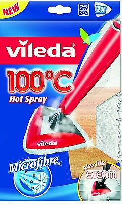 Vileda 100 Hot Spray and Steam Mop Replacement Refill Pads - Pack of 2  Free P&P
