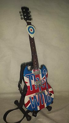 Miniature Guitar The WHO PETE TOWNSHEND incl. Box,Stand,Strap, and FREE PICK!!