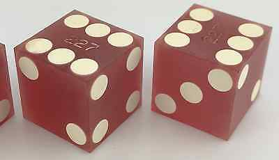 Antique Vintage Casino House Marked Dice - Still Has Factory Frosting - 227