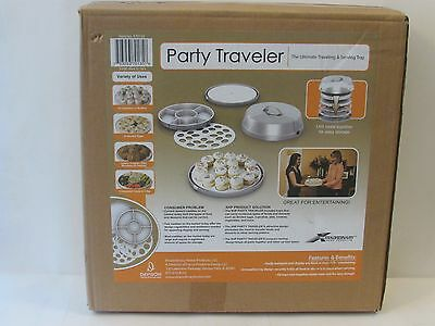 Party Traveler Ultimate Traveling & Serving Tray 6 Piece Set W/lid New In Box