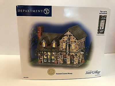 Dept 56 Snow Village Vineland Estates Winery Hand Numbered Lmtd Edition 55339