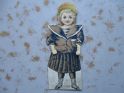 Ca. 1880s Mechanical Paper Doll Trade Card - Worcester Salt Co.