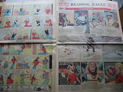Sunday Newspaper Comics  - FOUR Pages From 1940 - Flash Gordon - Others!