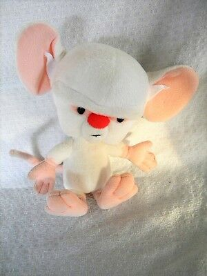 "Pinky and the Brain  Sitting 7"" Brain By Dakin 1995 Warner Bros. Animaniacs"