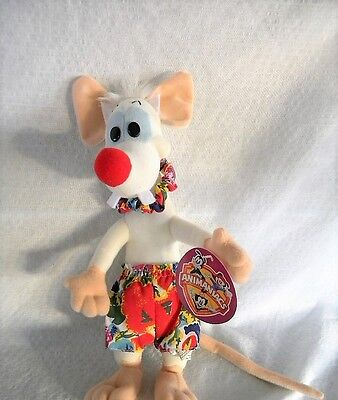 "New Pinky and the Brain  Hawaiian Pinky 11 1/2"" Tall with Tag"
