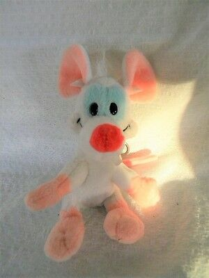 "Pinky and the Brain 1998 Pinky Key Chain By Jaclyn Warner Bros.  5 1/4"" Tall"