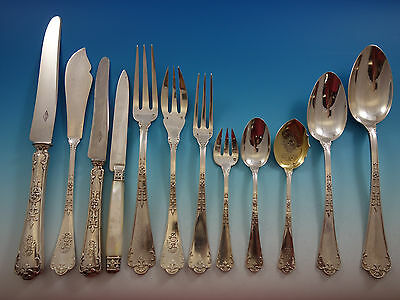 Fer De Lance by Puiforcat French 950 Sterling Silver Flatware Set Service Huge