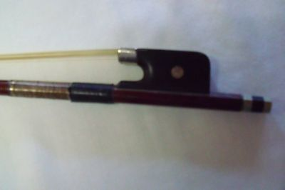 """Antique German Knoll Viola Bow New Rehair 28 1/4"""" Mother of Pearl Inlay"""