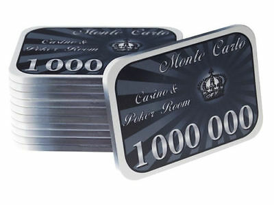 Monte Carlo Casino Poker Room Ceramic Plaque High Stakes Chip 1,000,000