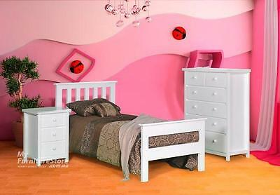 Single Federation Bed With 2 Rail Foot - White