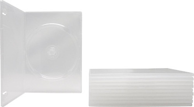 10 SLIM Clear Single DVD Cases 7MM