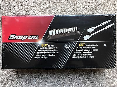 Snap On Standard, Long Ratchets & Deep Socket Set 3/8 Drive Brand New Metric