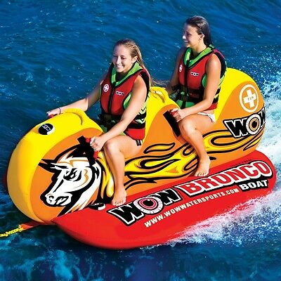 World of Watersports WOW 2-Person Bronco Boat Inflatable Towable Tube