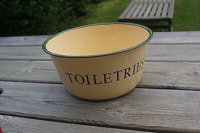 Toiletries Bowl Vintage Style Enamel Metal Bowl Storage/ Present Filler