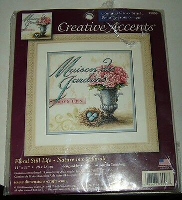 needle point kit creative Accents  FLORAL STILL LIFE 2009 # 79096